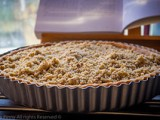 Apple and Rhubarb Crumble Tart